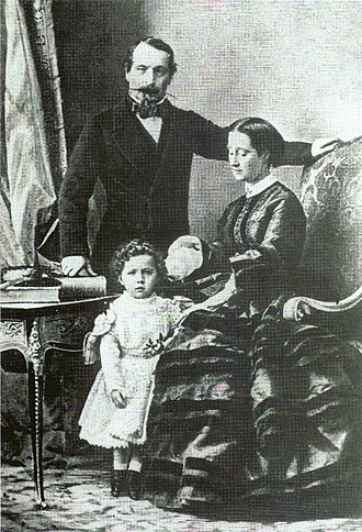 Eugénie de Montijo - Emperor Napoleon III and Empress Eugénie with their only son.