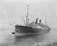 L'Empress of Ireland en mer en 1908.