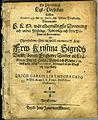 En Christeligh Lijk-Predikan hållen Anno 1645 den 25 Junij uthi Ubsala Domkyrkia (title page).jpg