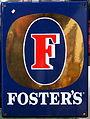 Enamel advertising sign, Foster's.JPG