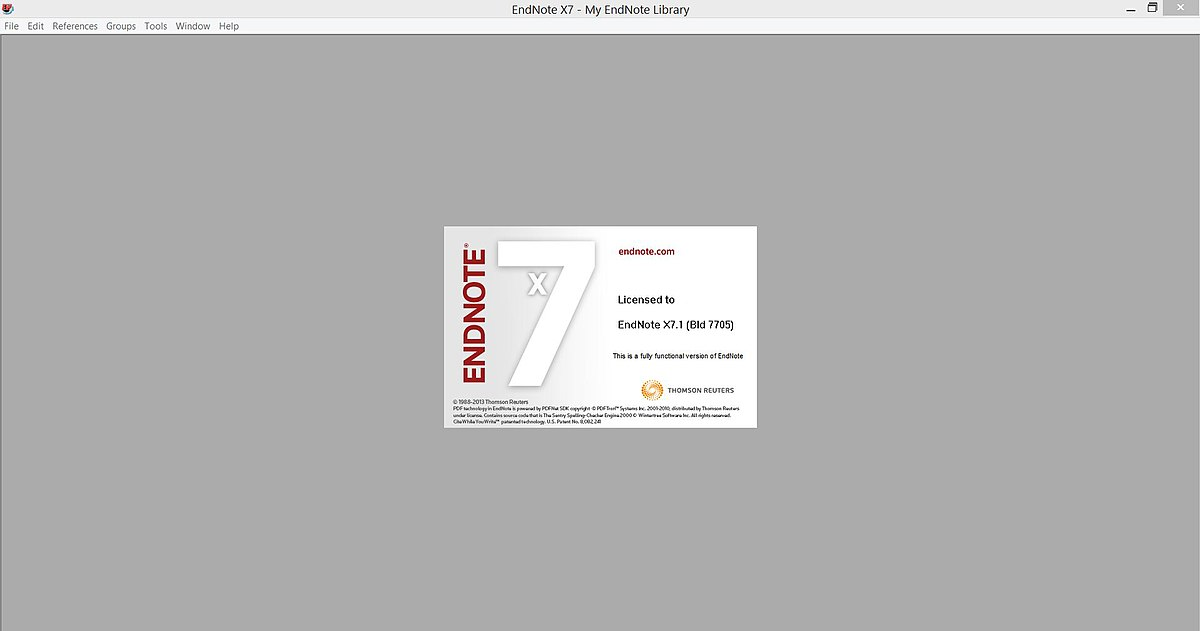Thomson isi researchsoft endnote x v11.0.1 build 2696. for windows. license h33t original