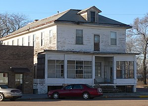 National Register of Historic Places listings in Charles Mix County, South Dakota - Image: Engel Hotel (Lake Andes SD) from NE 2