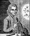 Engraving of G. Katterfelto with a black cat. Wellcome L0003577.jpg
