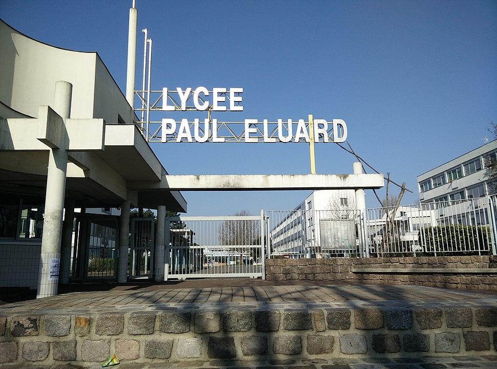 Entrée lycée Paul Eluard