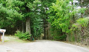 Entrance to Hayden Mountain Airport - Oregon.JPG