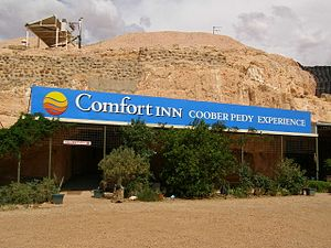 Coober Pedy - Entrance to an underground motel, Coober Pedy, 2007