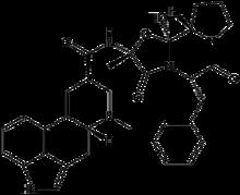 (6aR, 9R) -N - ((2R, 5S, 10aS, 10bS) -5-benzyl-10b-hydroksy-2-metyl-3,6-dioxooctahydro-2H-oxazolo [3,2-a] pyrrolo [2 , 1-c] pyrazin-2-yl) -7-metyl-4,6,6a, 7,8,9-heksahydroindolo [4,3-fg] kinolin-9-karboksamid