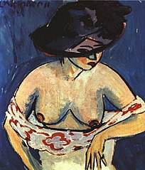 Half-Length Nude with Hat