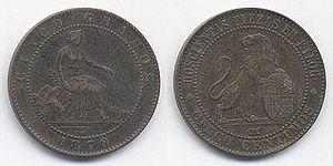 España 5 Céntimos 1870
