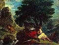 Eugène Delacroix - Lion Hunt in Morocco - WGA6228.jpg