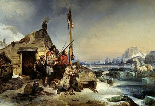 Eugène Lepoittevin - Hivernage d'une équipe de marins hollandais (1839)