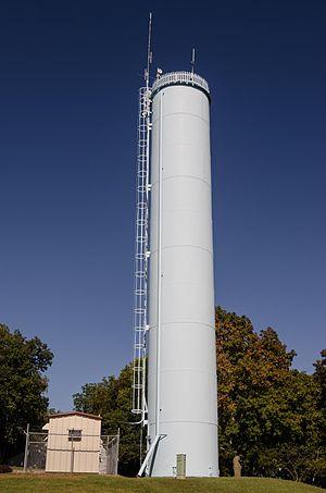 Evansville Standpipe - Image: Evansville standpipe Evansville, WI