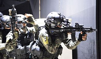 Heckler & Koch HK416 - Brazilian Army Special Forces's HK416A3 in a counter-terrorism exercise preparing for the 2016 Summer Olympics