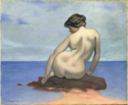 Félix Vallotton, 1910 - Baigneuse assise sur un rocher.png