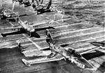 F9F-5 Panthers of VF-113 on USS Kearsarge (CVA-33) c1953.jpg