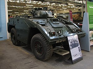 Fox armoured reconnaissance vehicle - FV722 Vixen prototype at Bovington Tank Museum