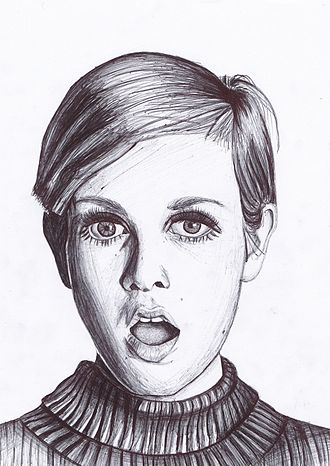 Twiggy - Image: Failuresque Twiggy drawing