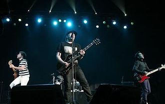 Pop punk - Fall Out Boy performing in 2006