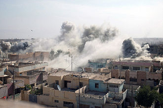 Fallujah - The aftermath of an air strike during the Second Battle of Fallujah