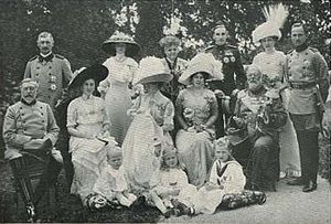 Princess Caroline Mathilde of Saxe-Coburg and Gotha - Baptism of Princess Caroline Mathilde in 1912.