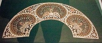Halas lace - Halas lace panel for a fan, designed by Árpád Dékáni (1861-1931) and made by Mária Markovits, Kiskunhalas Lace Manufactory, ca. 1906