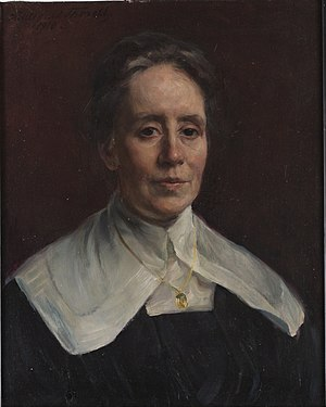 Fanny Brate - Portrait of Fanny Brate by Hildegard Thorell (1918)