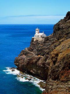Farol de D. Amélia lighthouse at Ponta Machado on São Vicente, Cape Verde