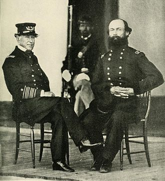 David Farragut - Rear admiral David Farragut and General Gordon Granger