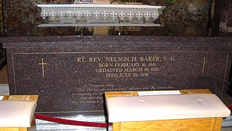 Nelson Baker - The sarcophagus containing the remains of Father Nelson Baker.