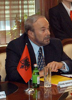 Fatos Nano Albanian politician