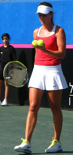 Fed Cup Group I 2013 Europe Africa day 2 Michelle Larcher de Brito 022.JPG