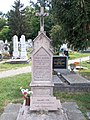 Ferenc Sághy and János Gabrielly grave obelisk, 2020 Nyergesújfalu.jpg
