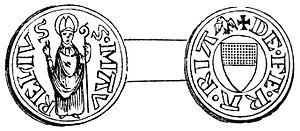 Quattrino - Image: Ferrara Stemma Quattrino del 1381