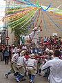 Festa Major d'Igualada 2014 - 04 Cercavila de trasllat de Sant Bartomeu. Pugen un pastoret..JPG