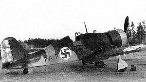 Fiat G.50 - Fiat G.50 in Finnish markings, c. 1940