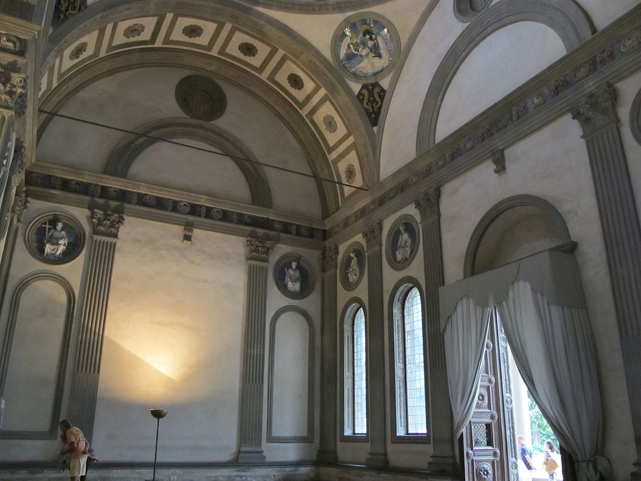 Interior of the Pazzi Chapel in Florence