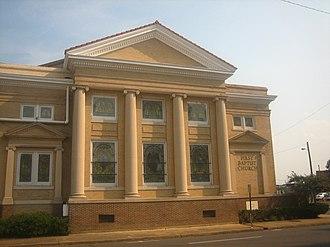 Monroe, Louisiana - First Baptist Church in downtown Monroe