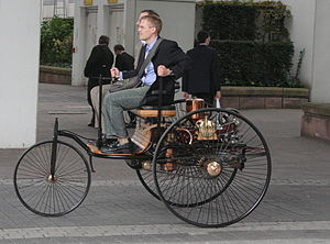 Benz Patent-Motorwagen - Working replica of the 1885 Benz Motorwagen in Frankfurt, 2007