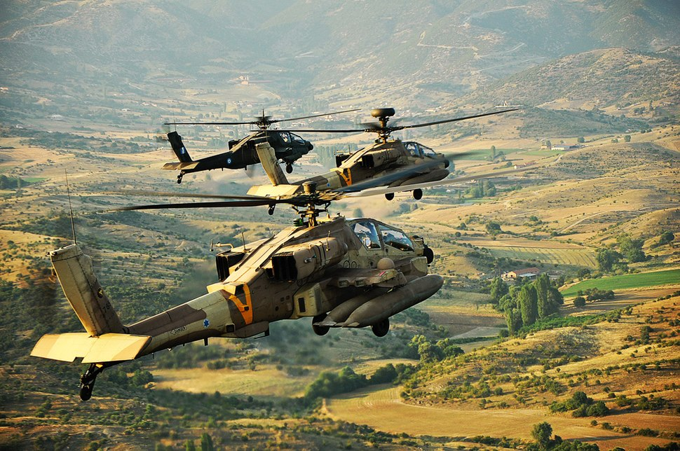 Flickr - Israel Defense Forces - Apache Helicopters Overlooking Greece