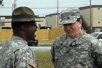 The Colbert Report - Drill sergeant SFC Chantz correcting PVT Colbert at Fort Jackson