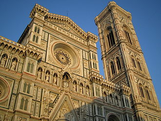 Facade of the cathedral Florence Cathedral, front view.jpg