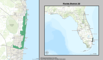 Florida's 22nd congressional district - since January 3, 2013.