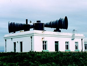 Foghorn - Another Trinity House fog siren installation on Flat Holm, now restored by the Flat Holm Project