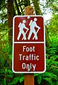 Foot Traffic Only Sign at Beverly Beach State Park.jpg