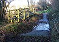 Ford and footbridge on Rapsy Tapsy Lane - geograph.org.uk - 1082888.jpg