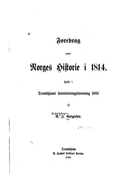 File:Foredrag over Norges Historie i 1814.djvu
