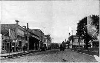 Washington County, Oregon - Downtown Forest Grove in 1920
