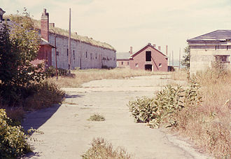 Fort Adams - A section of historic Fort Adams in a neglected state (1968)