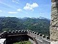 Fortezza delle Verrucole mura con bastioni e panorama.jpg