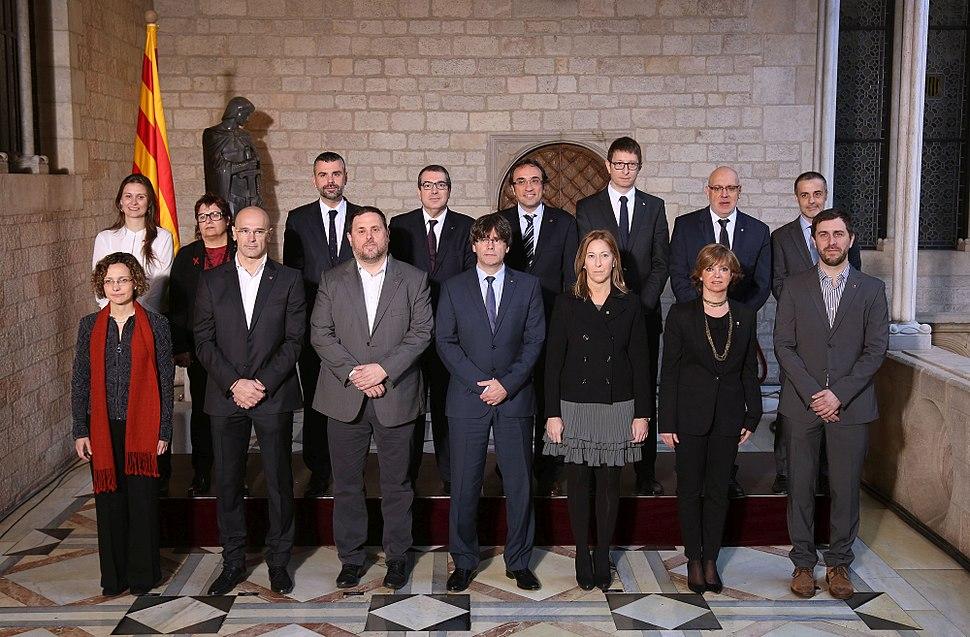 Foto oficial del nou Govern Puigdemont